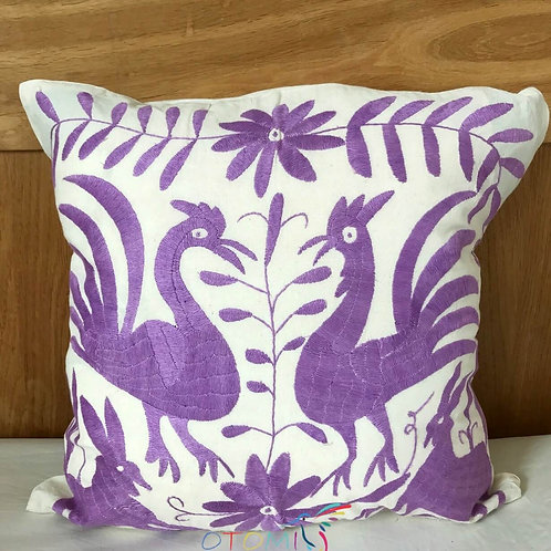 Otomi throw pillow cover- Lavender