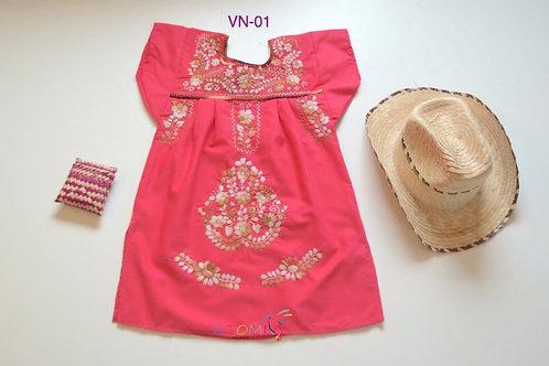 Pink girls' dress - Anna