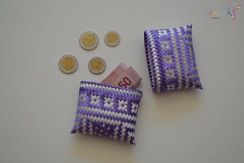 Purple & White Coin Purse