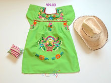 Girls Mexican dress | Otomi Mexico | Europesses for girls _ Otomi Mexico