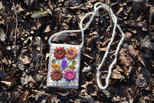 Floral embroidered bag for girls