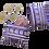 huichol coin purse in purple