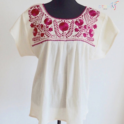 Mexican Blouse in Pink- L