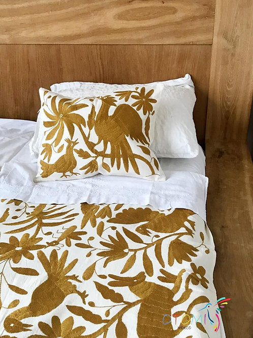 Mexican Bedspread Otomi - Gold