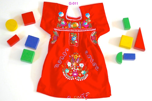 Mexican Girl Dress in red - Camila