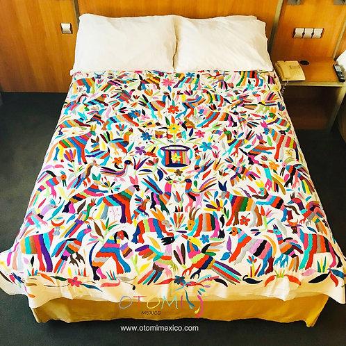 Mexican bedspread - pajaritos del amor