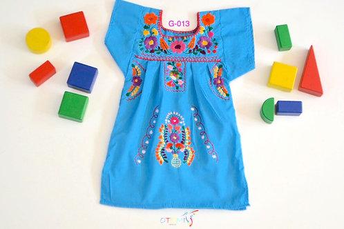 Mexican Girl dress light blue - Isabella