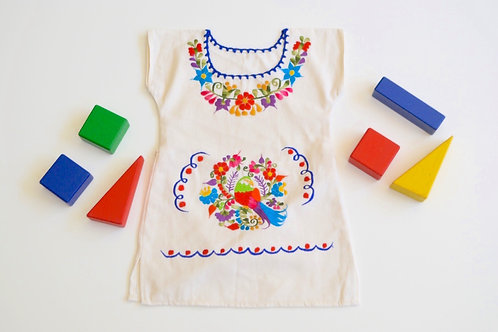 Traditional Mexican Dress in Cotton - Renata