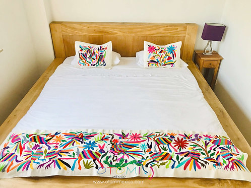 Mexican Embroidered Bedding in multicolor with animal design