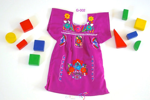 Mexican Girls dress in purple - Paula