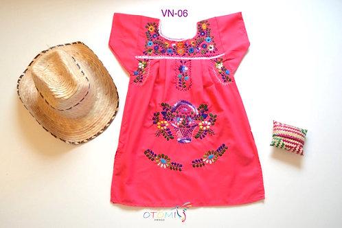 Mexican Pink dress - Amalia