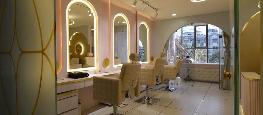 Wabi-Sabi Make-up Studio Interior Design l Aangan Architecture Studios