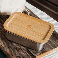 Stainless Steel Container with Bamboo Lid