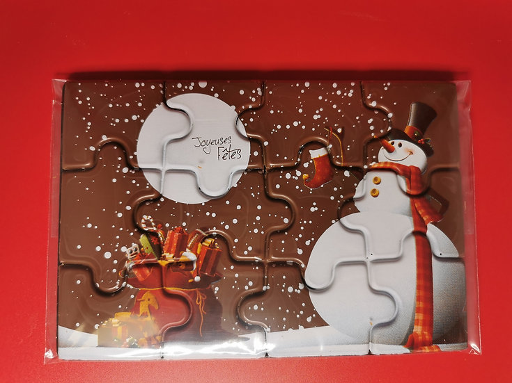 Chocolate Snowman Jigsaw