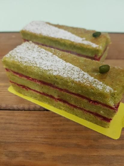 Pistachio Raspberry slice