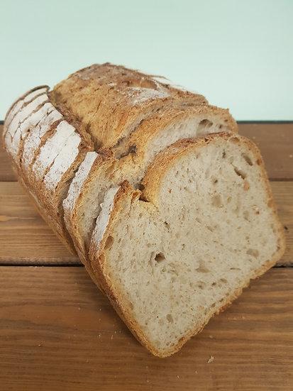 Large sliced sourdough loaf