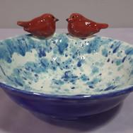 Lovebirds Serving Bowl