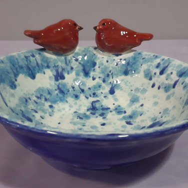 Lovebirds Serving Bowl