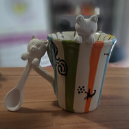 froggy/ kitty spoons