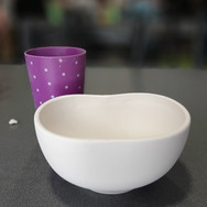wavy cereal bowl 14w x 12cm h