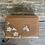 Thumbnail: Small Tan Cherry Blossom Purse
