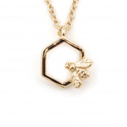 Hexagon Bee Mini Pendant