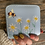 Thumbnail: Blue Bee Print & Daisy Embroidered Purse