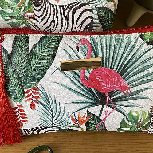 Small Jungle Print Make Up Bag