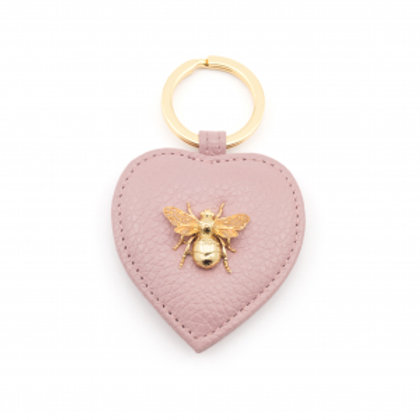 Queen Bee Italian Leather Keyring Blush