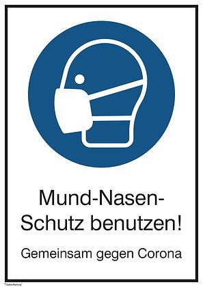 Mund-Nasen-Schutz benutzen!
