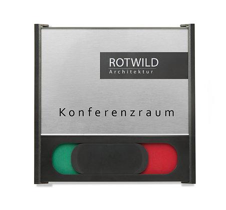BOX Türschilder inkl. Frei / Besetzt-Anzeige