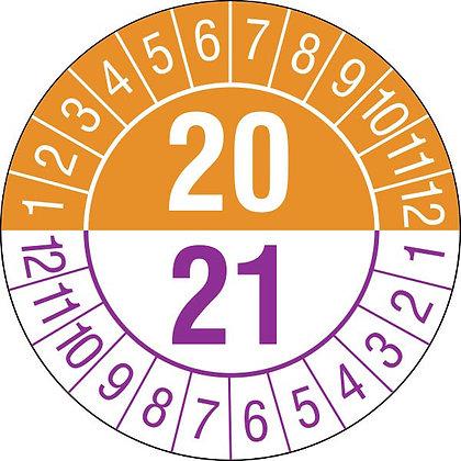 Prüfplakette - mit Jahresfarbe