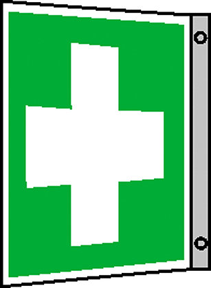 Erste-Hilfe-Schild - Fahne