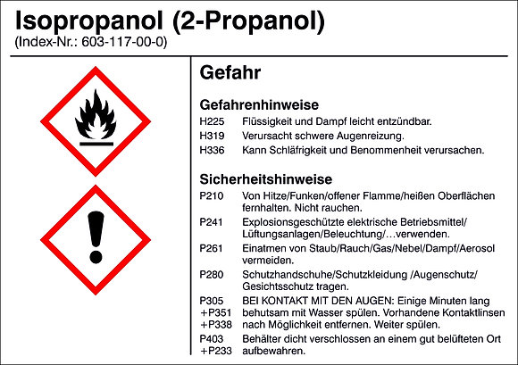 Gefahrstoffetikett