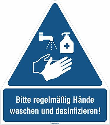 Bitte regelmäßig Händewaschen und desinfizieren!