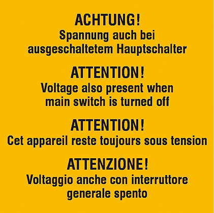 Warn-Zusatzschild