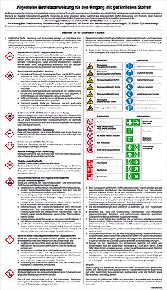 Aushang - Gefahrstoffe