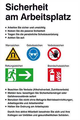 Aushang - Sicherheitskennzeichnung