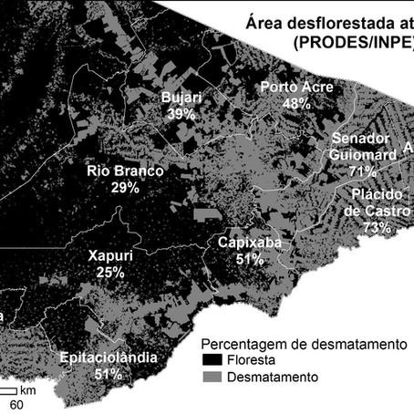 O Acre tem muita floresta? Exemplo do leste do Acre