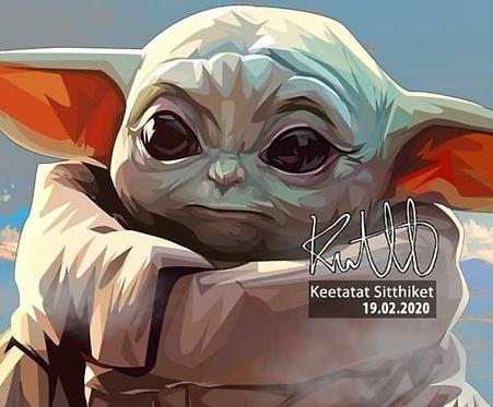 Baby Yoda -- PopArt by Keetatat Sitthiket
