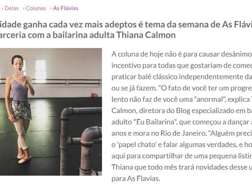 Eu, Bailarina na coluna As Flavias