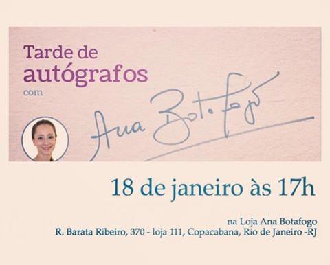 Tarde de autógrafos com Ana Botafogo