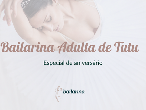Bailarina Adulta de Tutu - Edição de aniversário