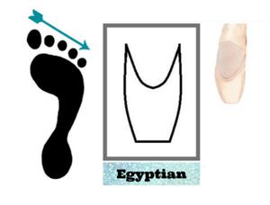 pé egipcio