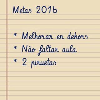 Fim de férias e metas para 2016