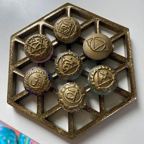 Custom Crystal Chakra Stone Set