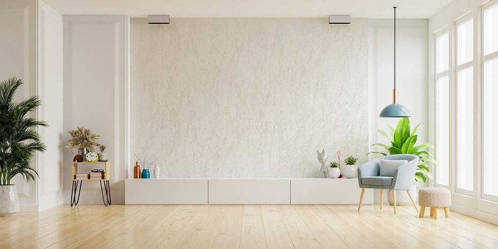 cabinet-tv-white-plaster-wall-living-roo