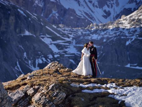Un matrimonio in alta quota