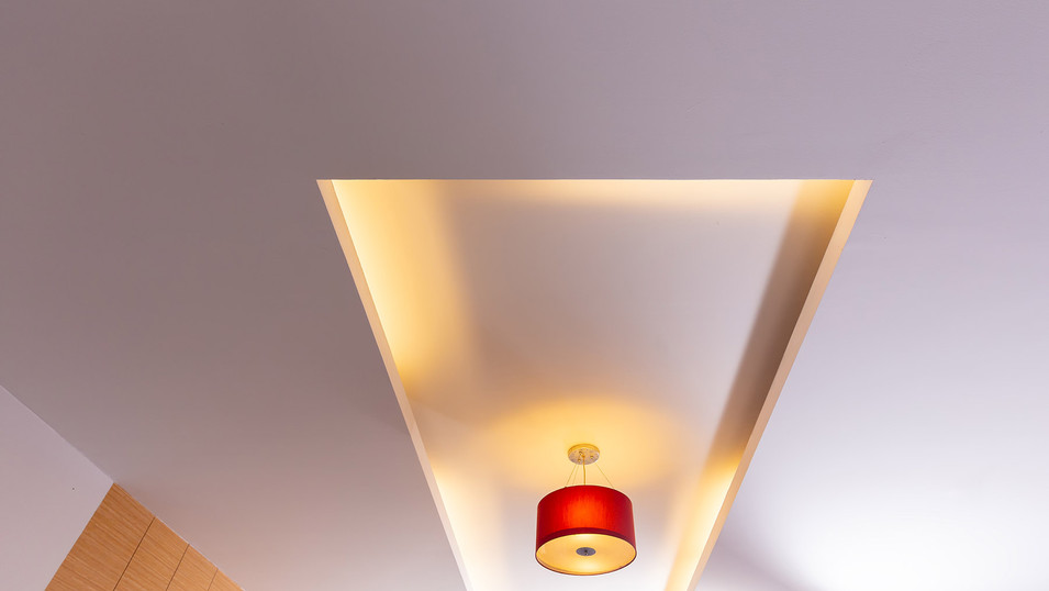 room-ceiling-ceiling-with-red-light-bulb