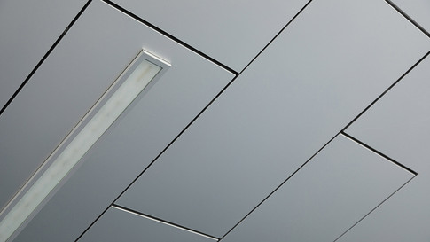 ceiling-covered-with-smooth-white-panels